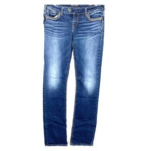 Buy 2 Get 2🎁Silver Low Straight Denim Jeans 31